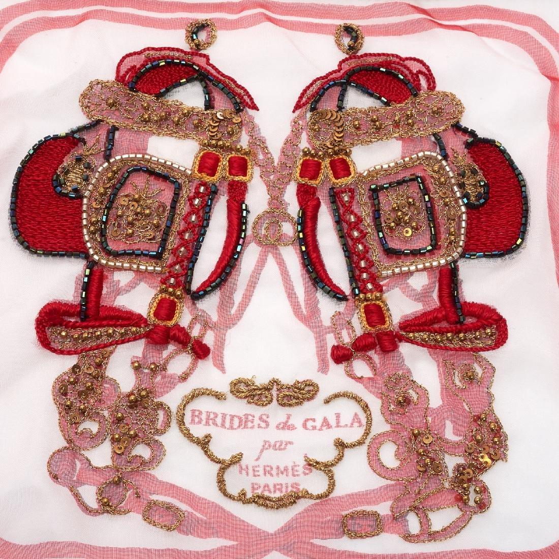 "Hermes Paris ""Brides de Gala"" beaded shawl - 3"