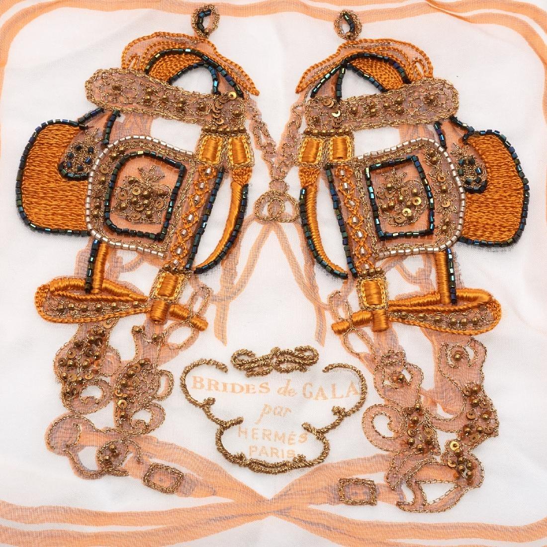 "Hermes Paris ""Brides de Gala"" beaded shawl - 4"
