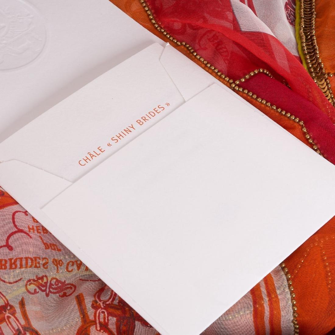"Hermes Paris ""Brides de Gala"" beaded shawl - 8"