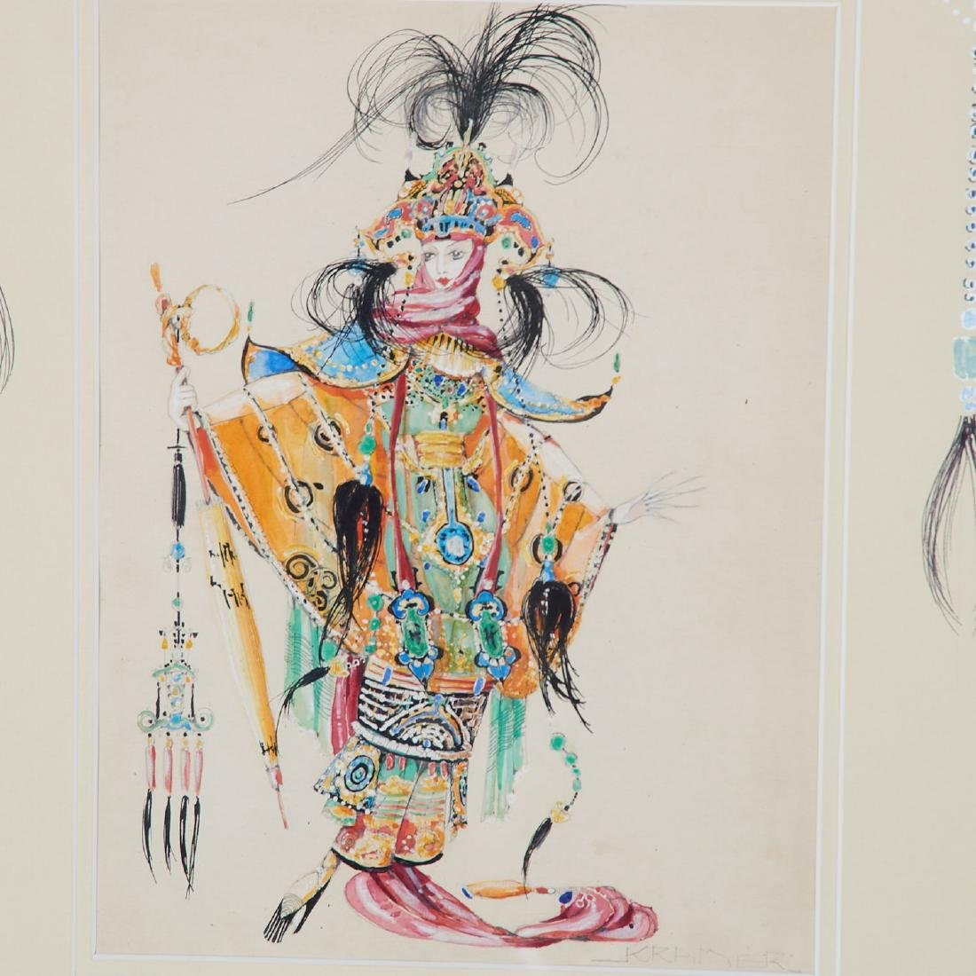 Alan Kramer, (2) mixed media costume designs - 2