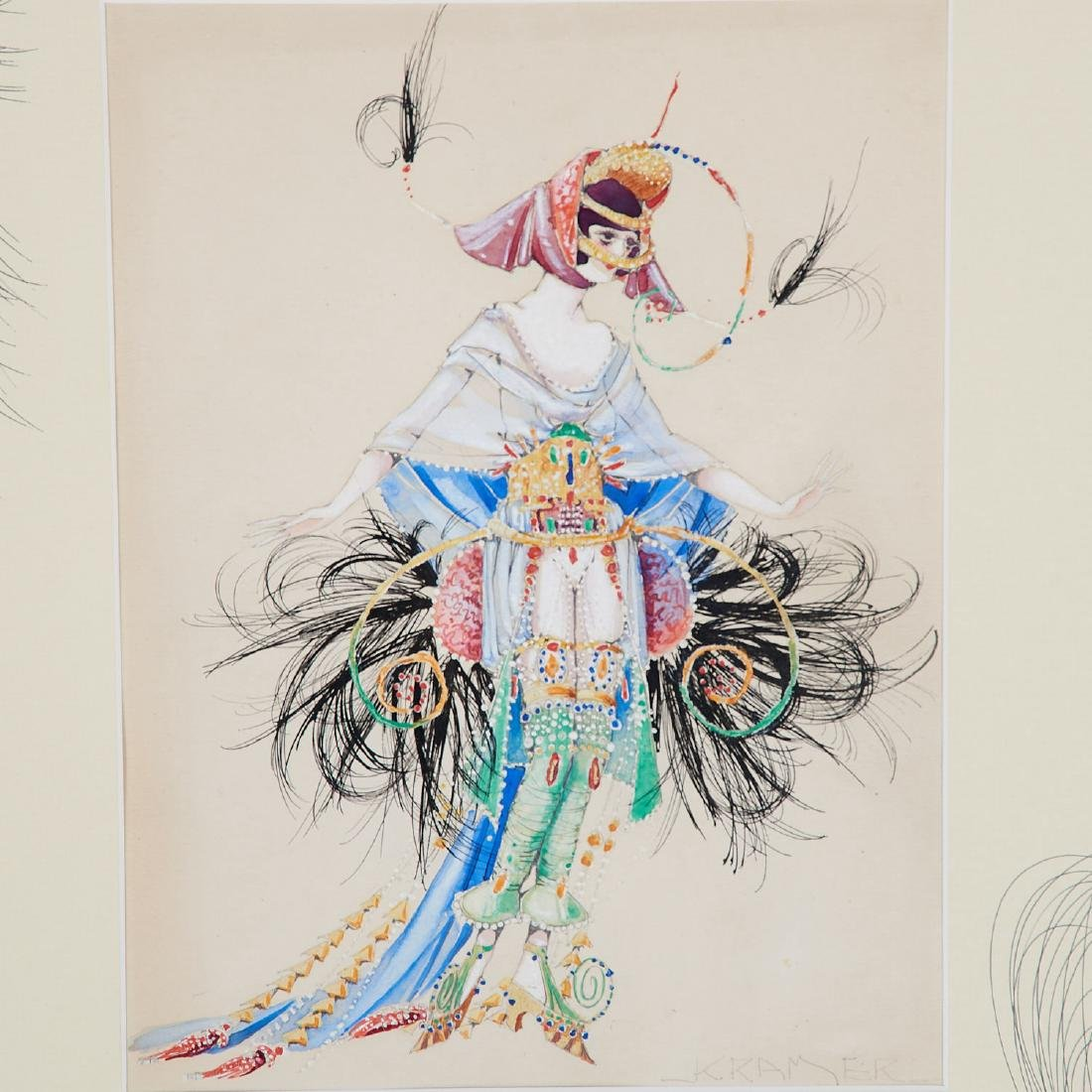 Alan Kramer, (2) mixed media costume designs - 3
