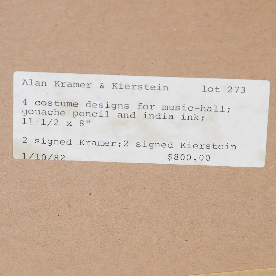 Alan Kramer, (2) mixed media costume designs - 6