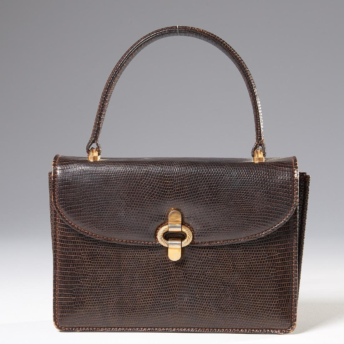 Gucci brown lizard handbag
