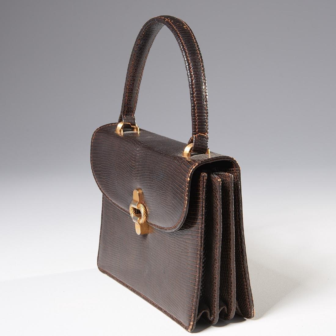 Gucci brown lizard handbag - 2