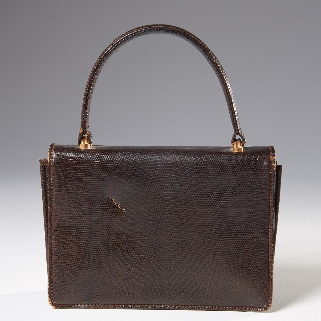 Gucci brown lizard handbag - 3