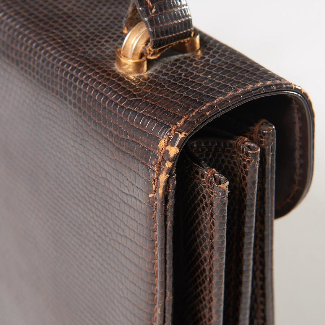 Gucci brown lizard handbag - 5