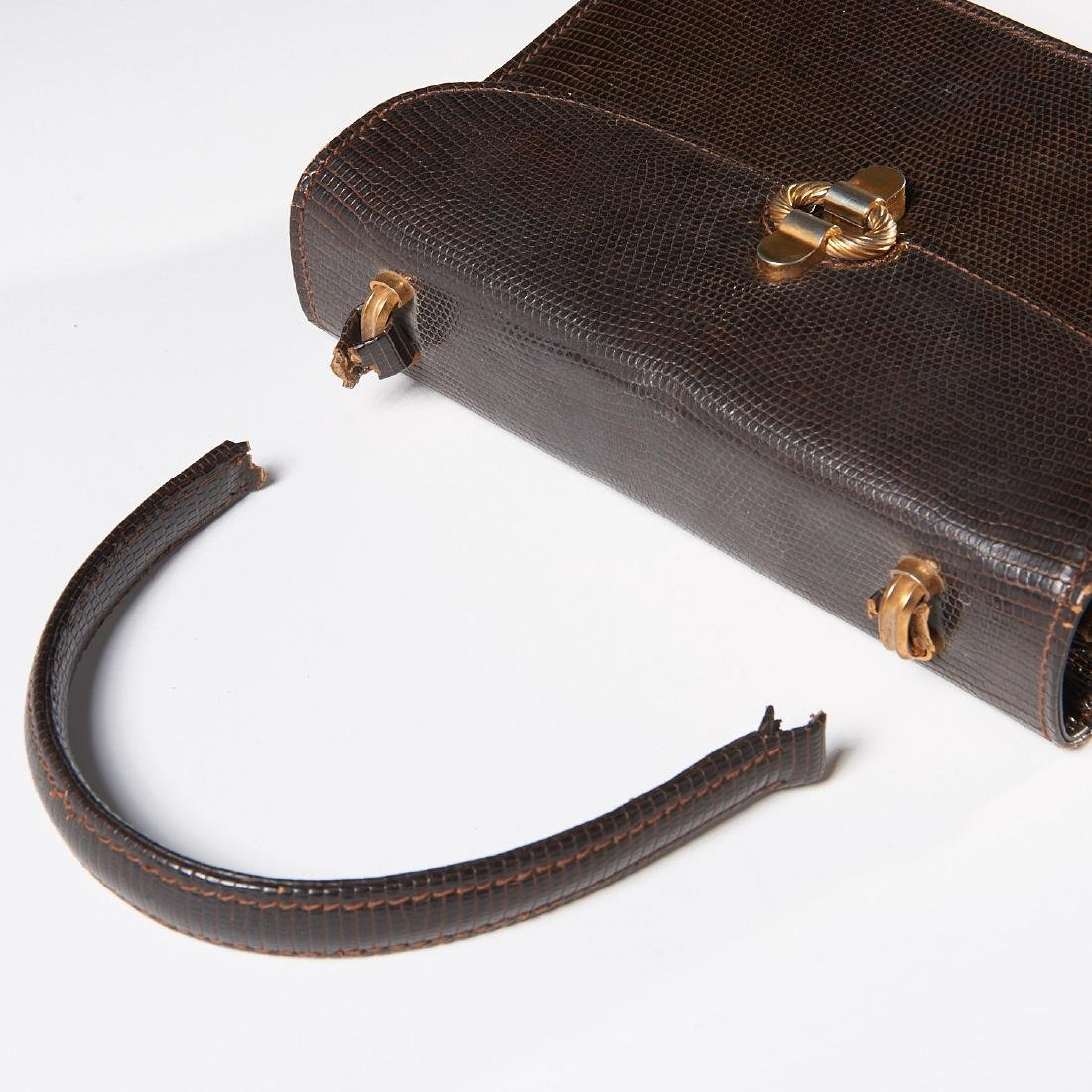Gucci brown lizard handbag - 6