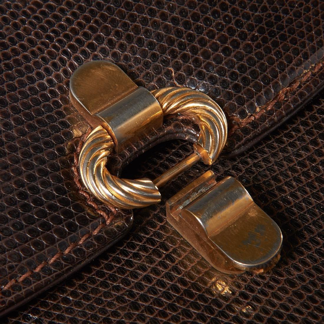 Gucci brown lizard handbag - 7