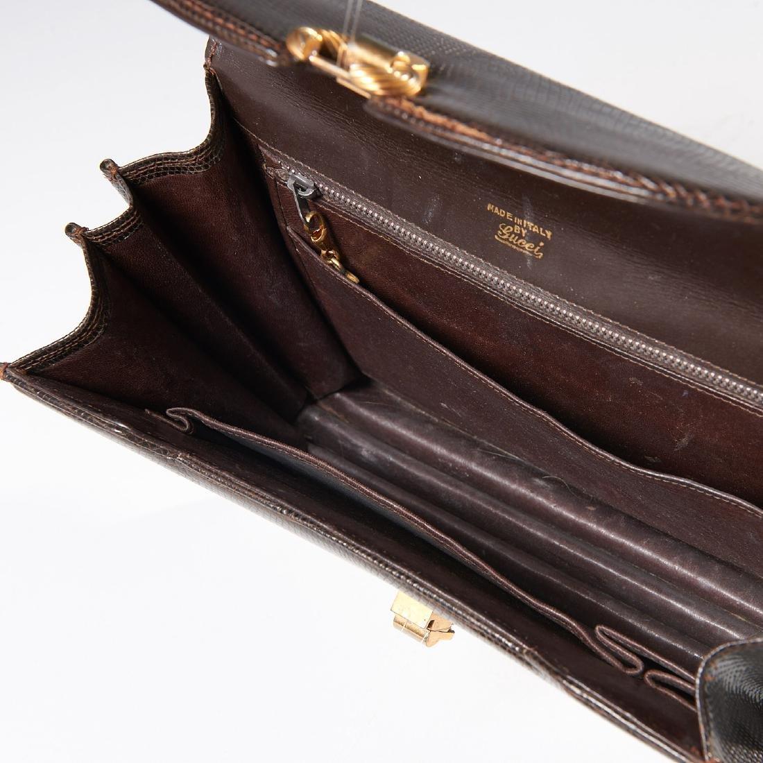 Gucci brown lizard handbag - 8