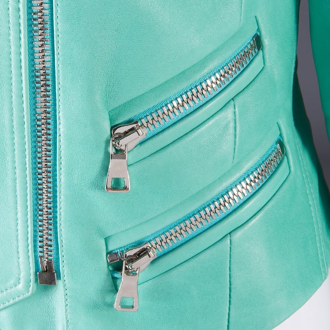 Balmain Paris turquoise lambskin jacket - 11