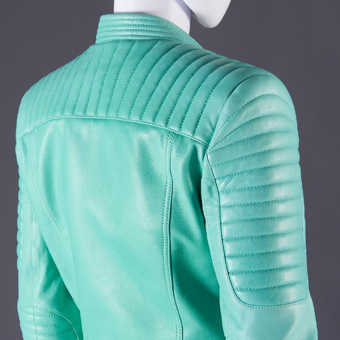 Balmain Paris turquoise lambskin jacket - 13