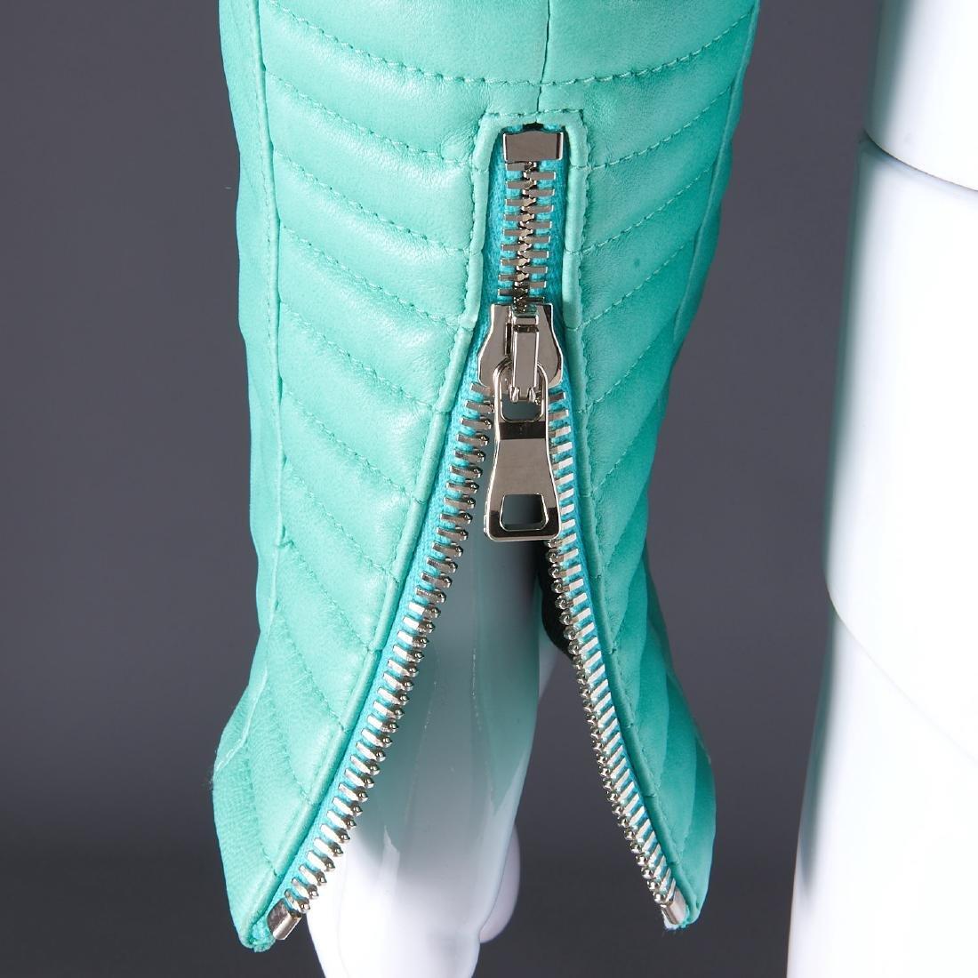 Balmain Paris turquoise lambskin jacket - 15
