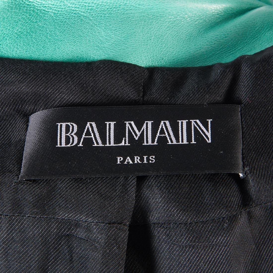 Balmain Paris turquoise lambskin jacket - 16