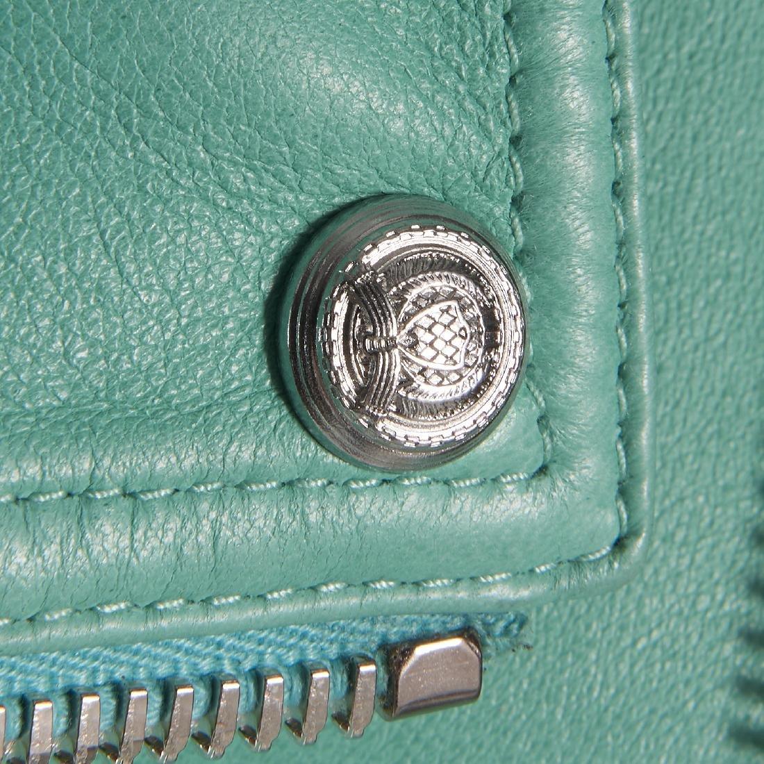 Balmain Paris turquoise lambskin jacket - 6