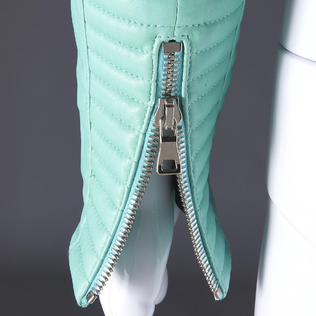 Balmain Paris turquoise lambskin jacket - 7