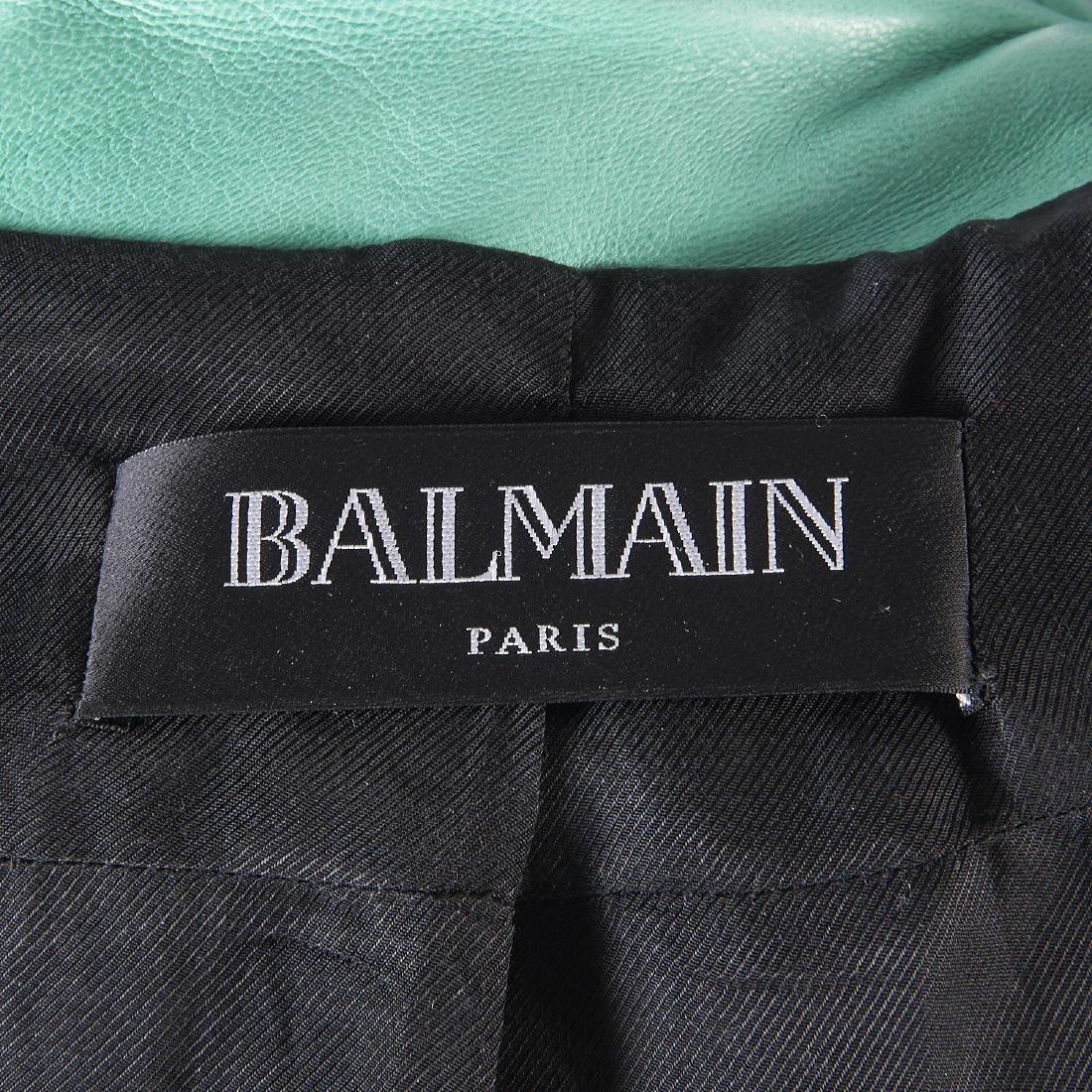 Balmain Paris turquoise lambskin jacket - 8