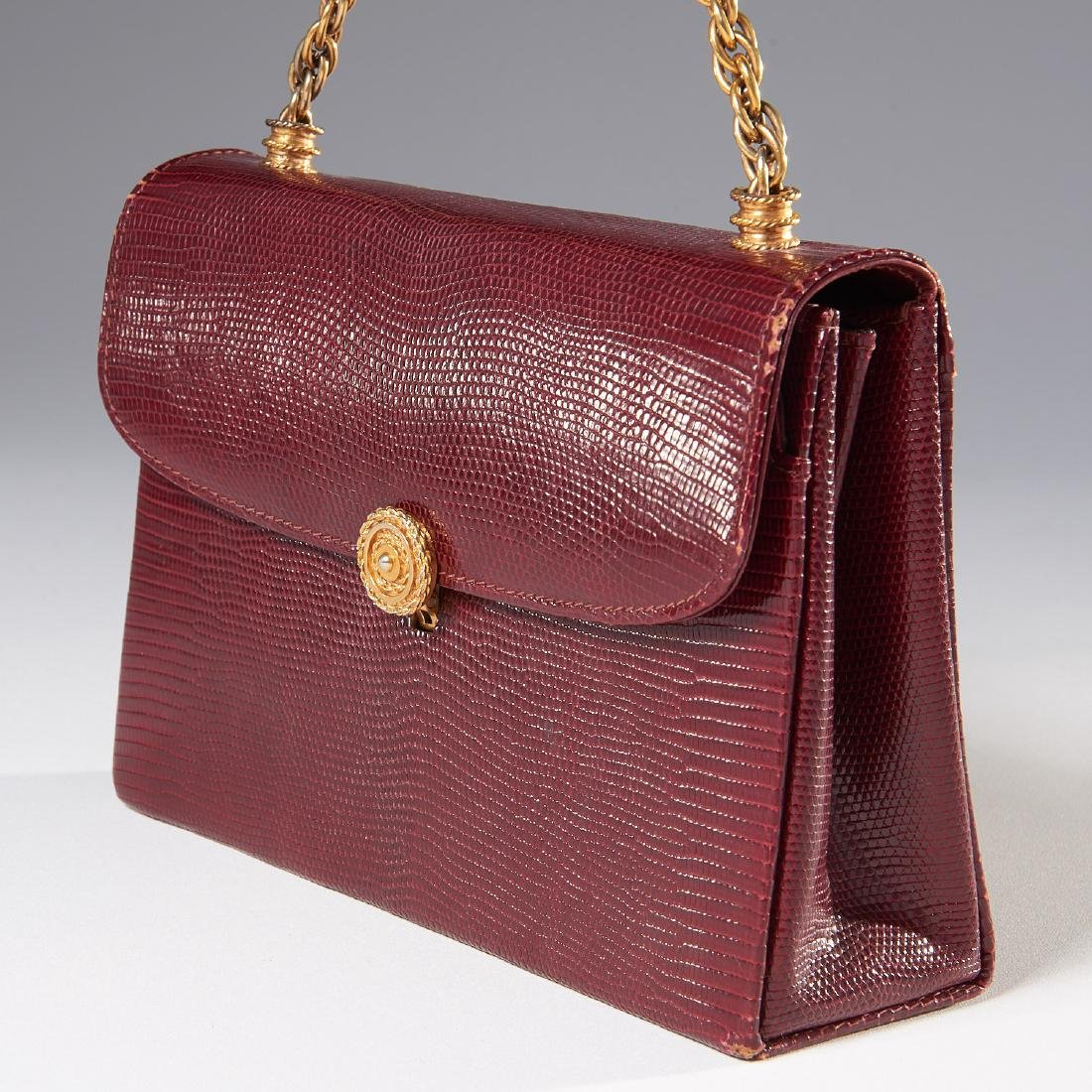 Gucci burgundy lizard handbag