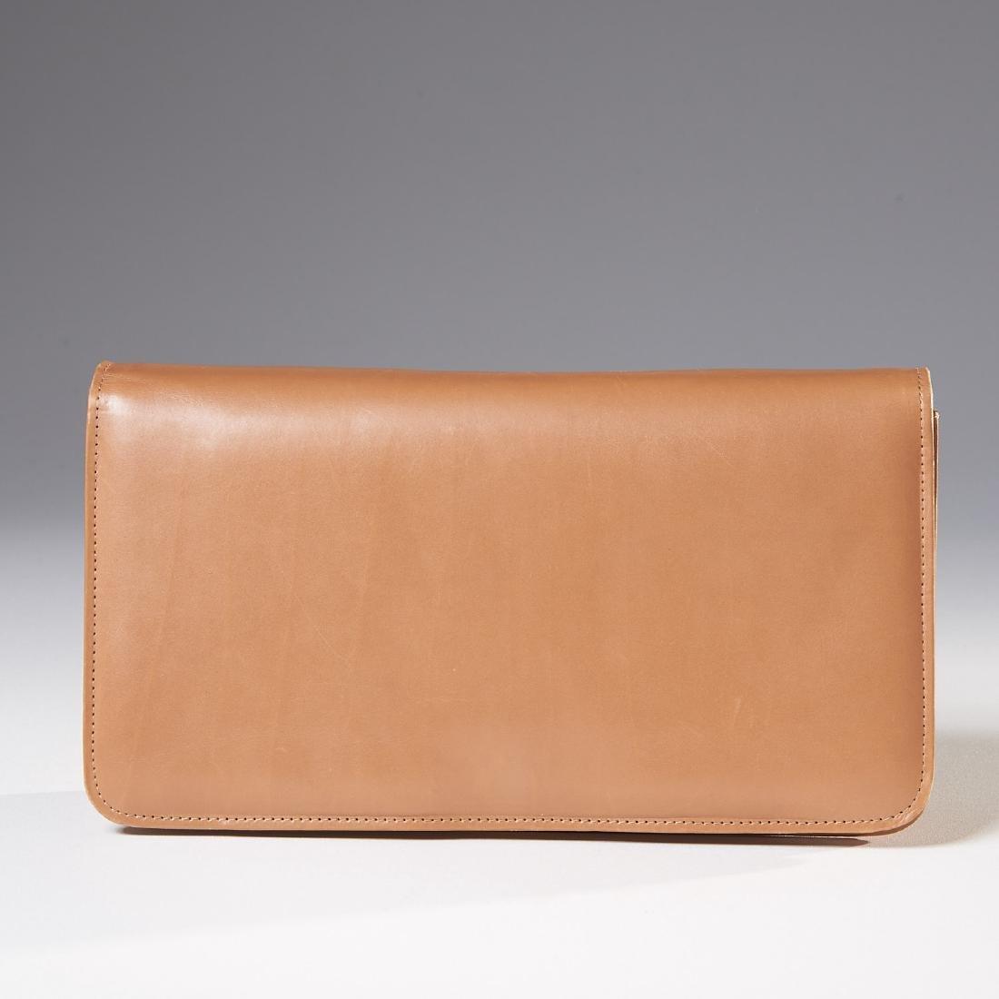 Manolo Blahnik tan lambskin handbag