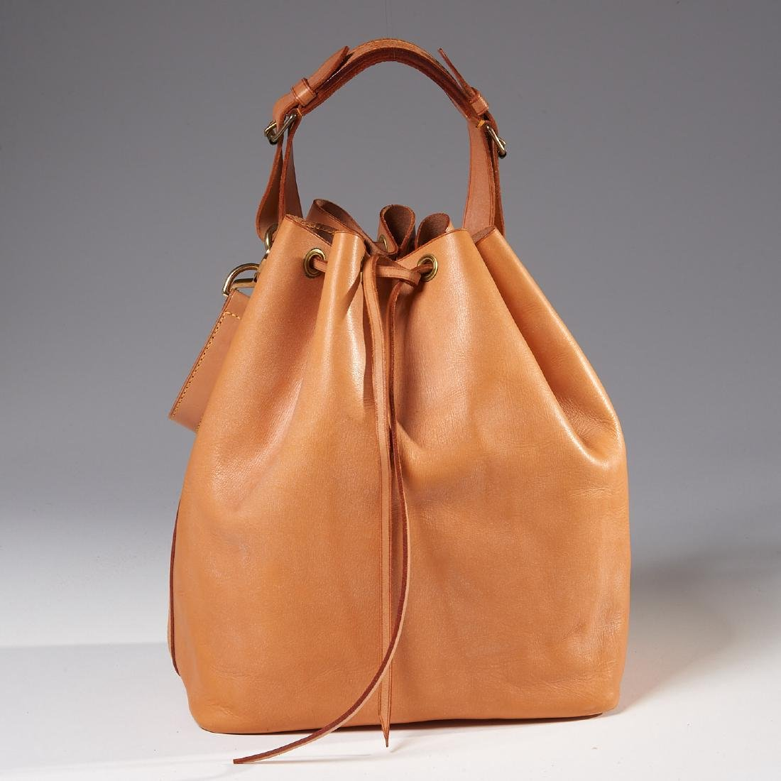 Louis Vuitton all leather drawstring handbag