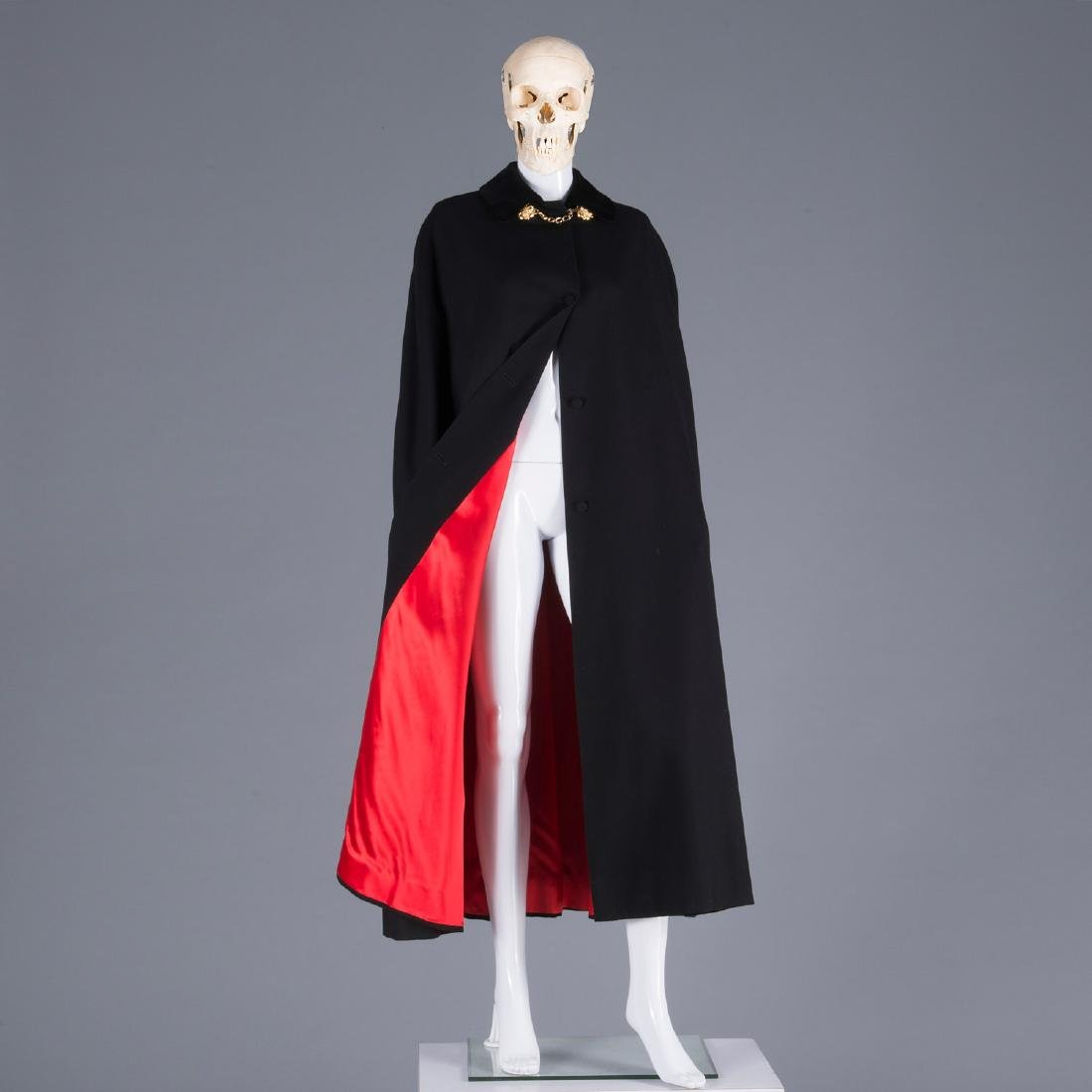 Gieves & Hawkes lady's black wool cape