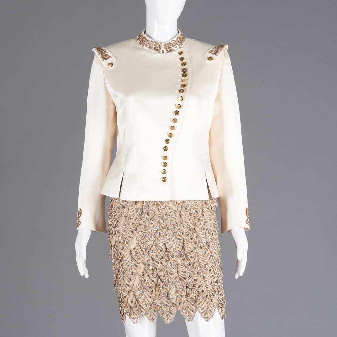 Maggie Norris Couture beaded skirt with jacket