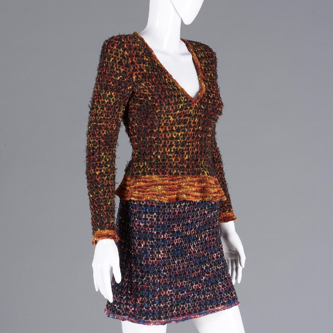 Chanel Boutique wool blend knit sweater & skirt