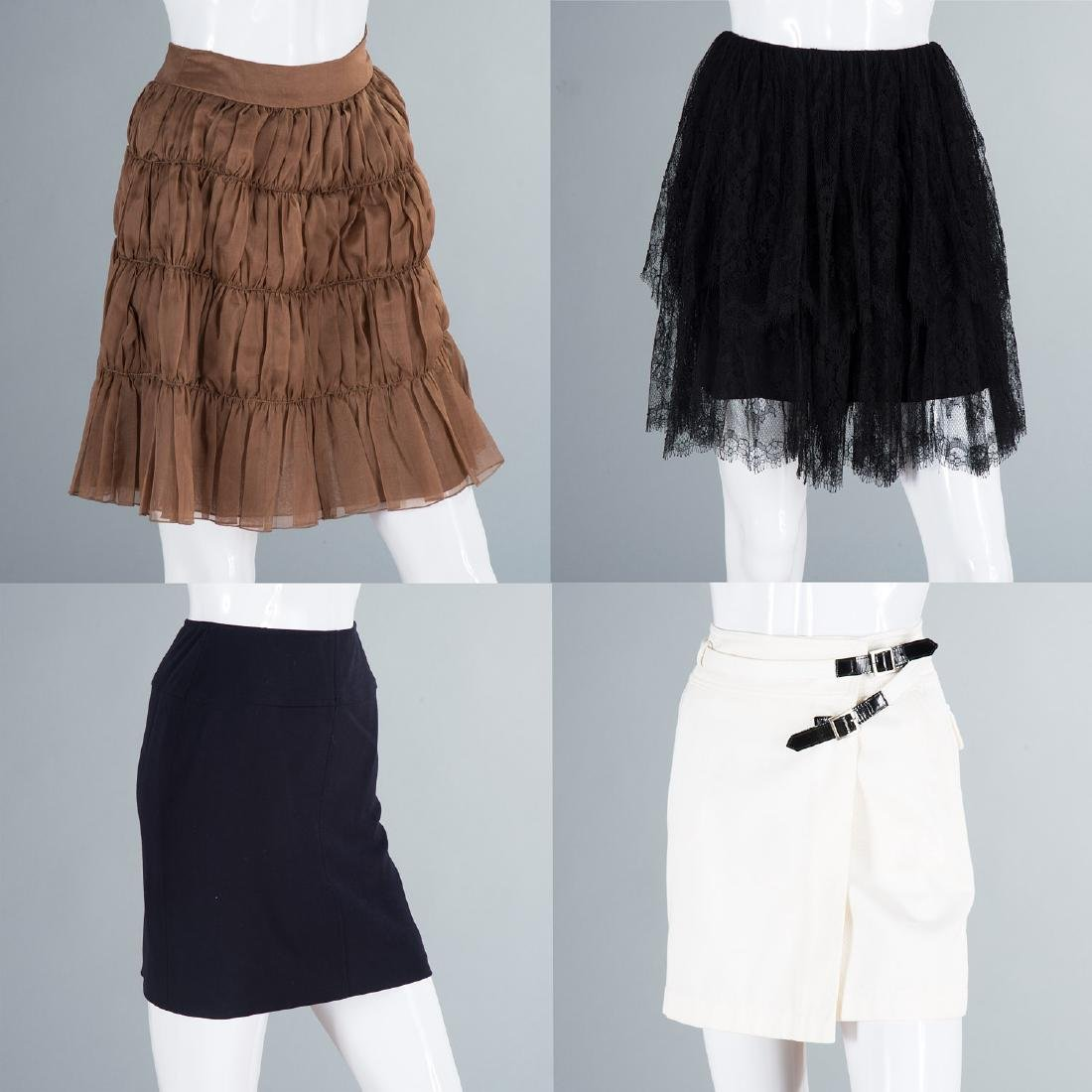 Group of (4) Chanel skirts