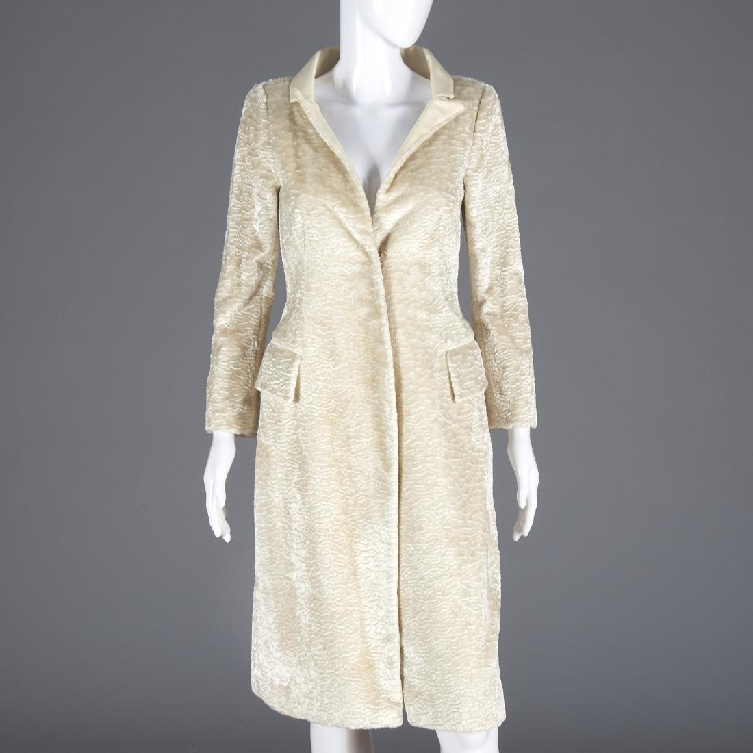 Richard Tyler Couture faux Persian Lamb coat
