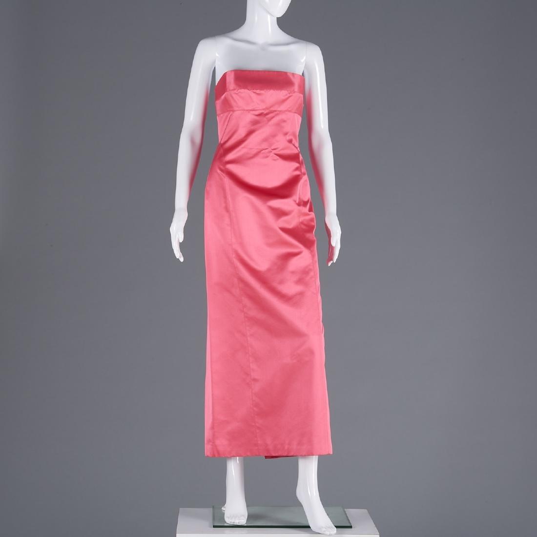 Richard Tyler silk blend strapless dress