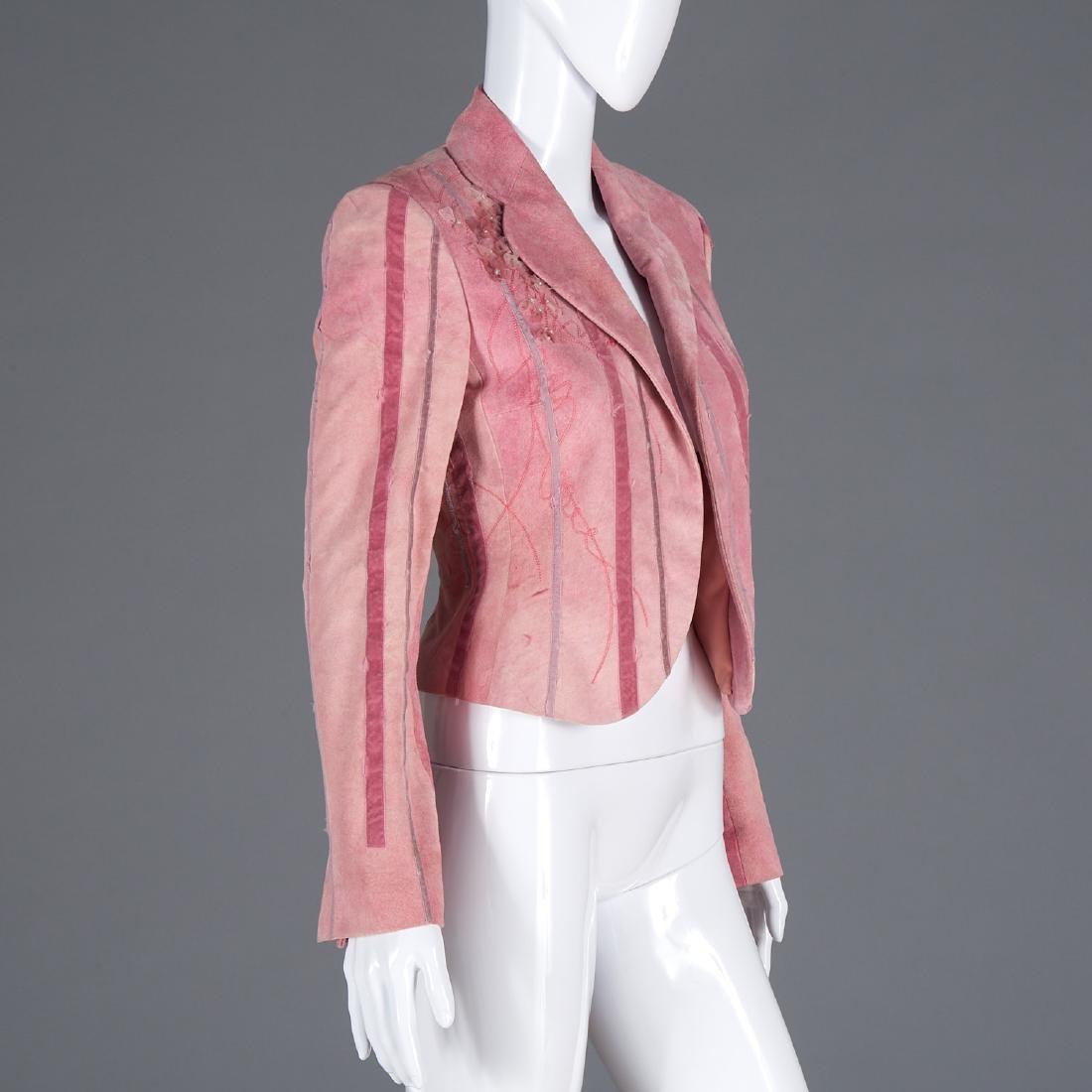 Richard Tyler Couture suede jacket w/ applique