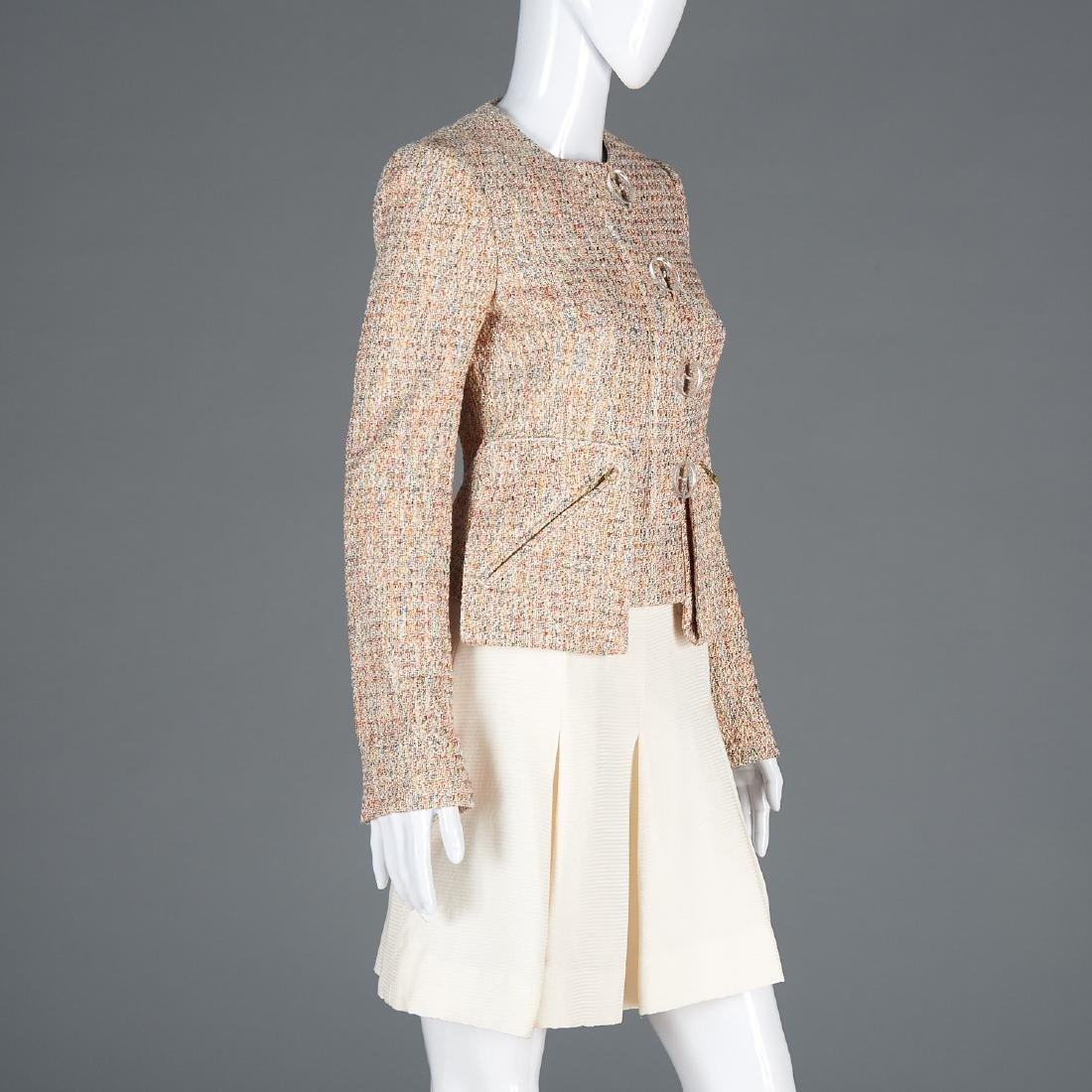 Tuleh cotton blend jacket and silk blend skirt