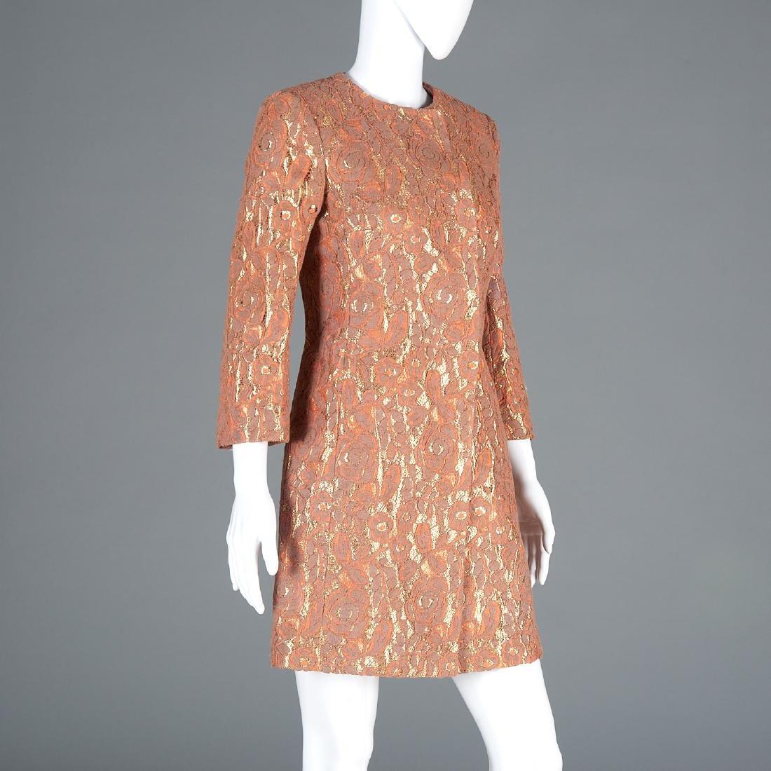 Tuleh overlaid lace evening coat