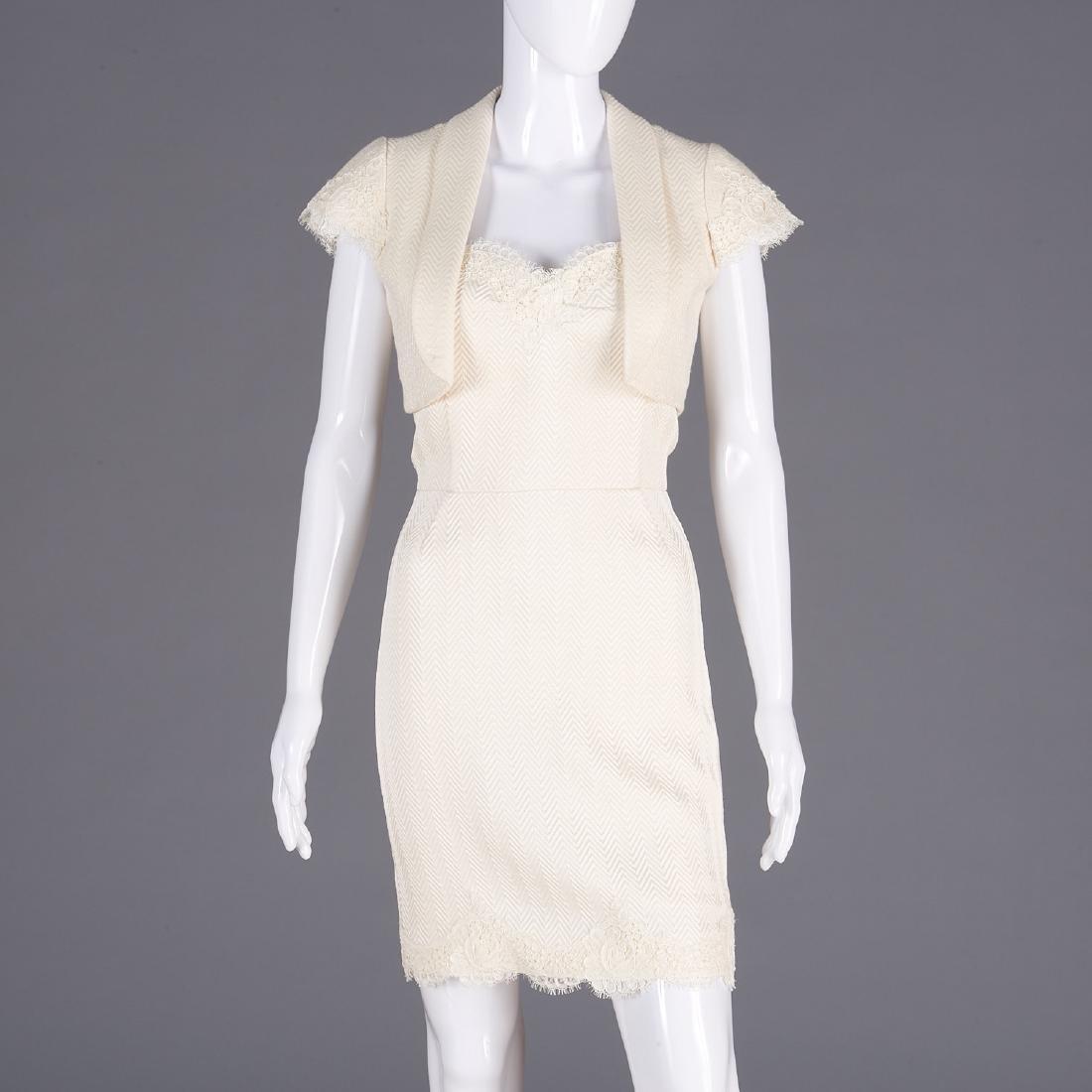 Cynthia Rose silk knit cocktail dress and shrug