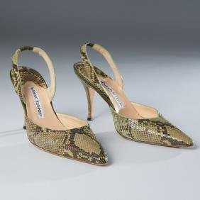 "Manolo Blahnik Python ""carolyne"" Shoes"