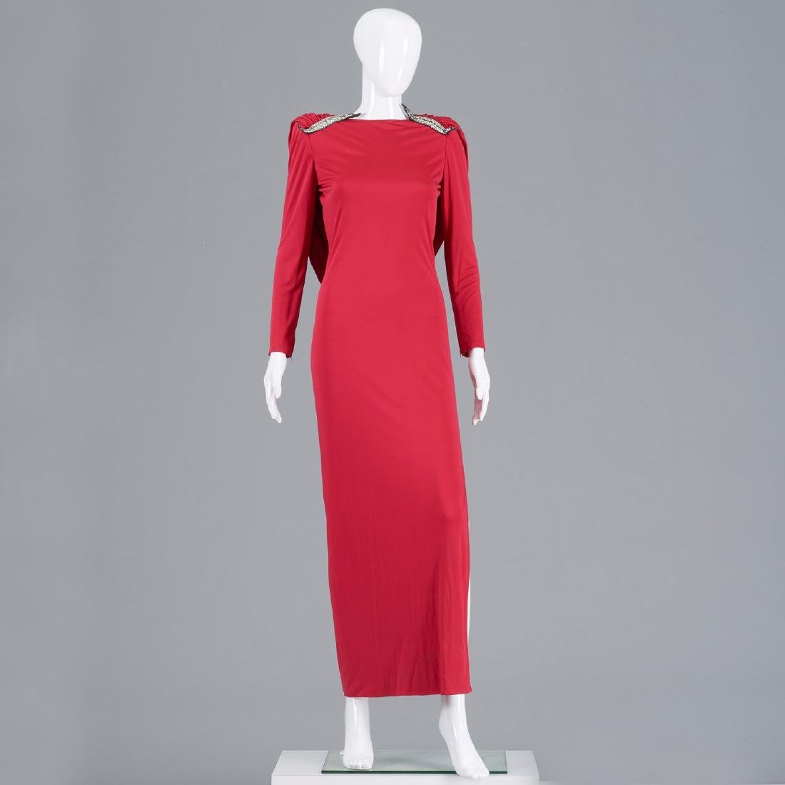 Valentino Boutique fuschia silk jersey gown