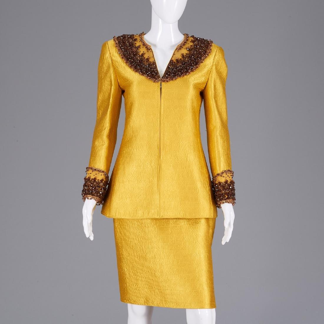 Mary McFadden Couture evening skirt ensemble