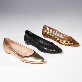 Group Manolo Blahnik Ballet Flat Shoes