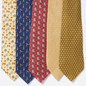 Group Salvatore Ferragamo Silk Neckties
