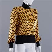 Emanuel Ungaro yellow and black silk blouse