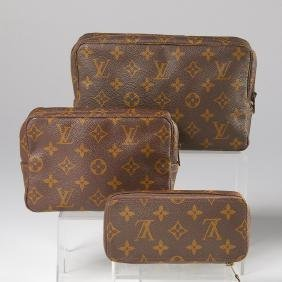 Group Of Louis Vuitton Monogram Cosmetic Bags