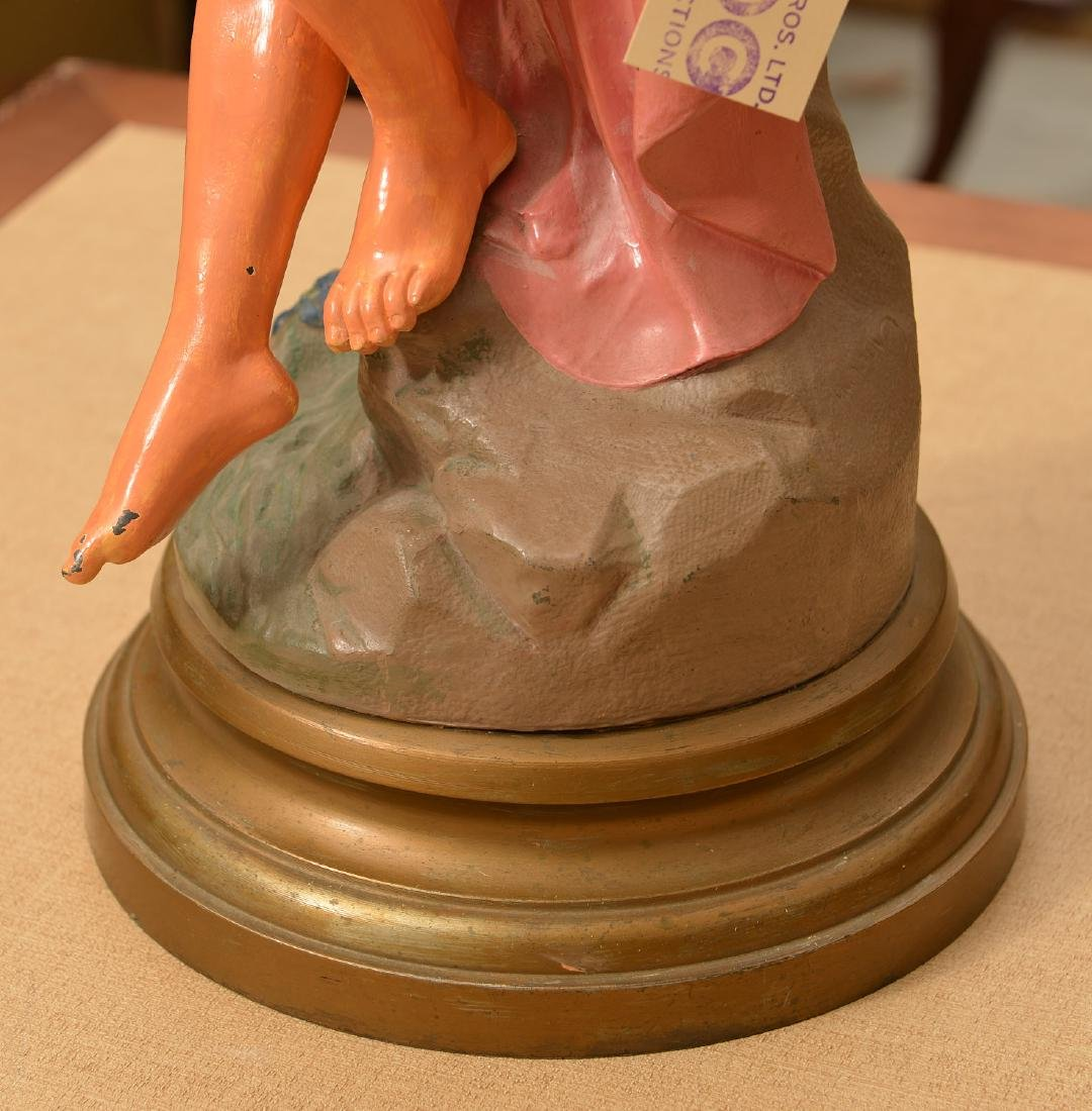 Large painted metal statue of a Bathing Beauty - 5