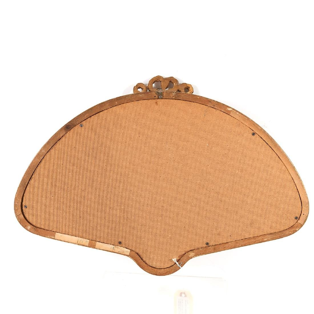 Ladies hand fan with painted panel - 5
