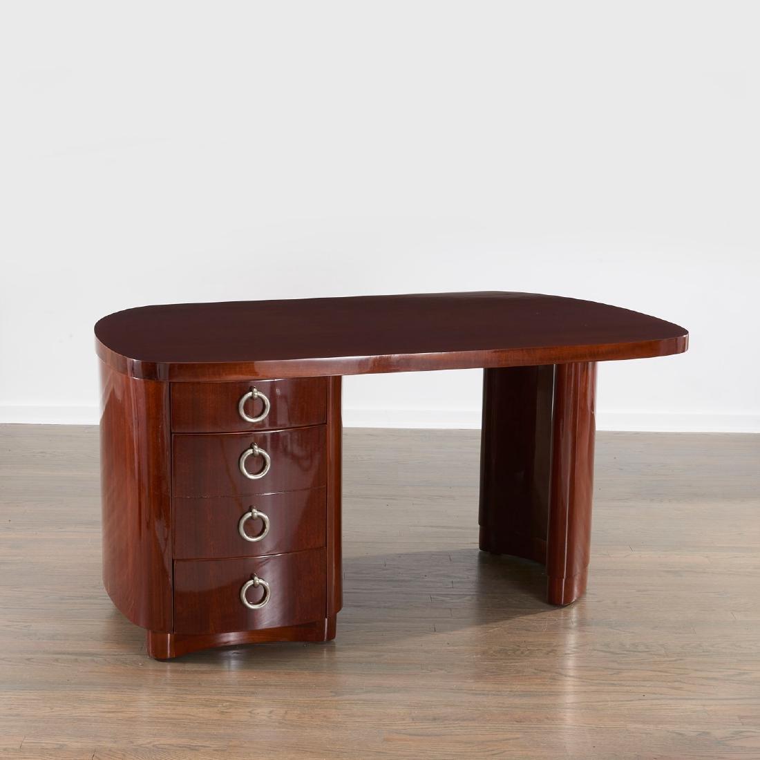 Gilbert Rohde style mahogany desk