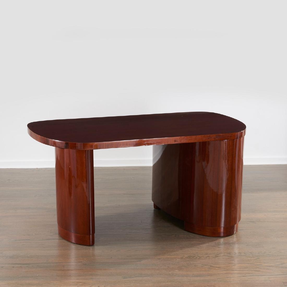 Gilbert Rohde style mahogany desk - 5
