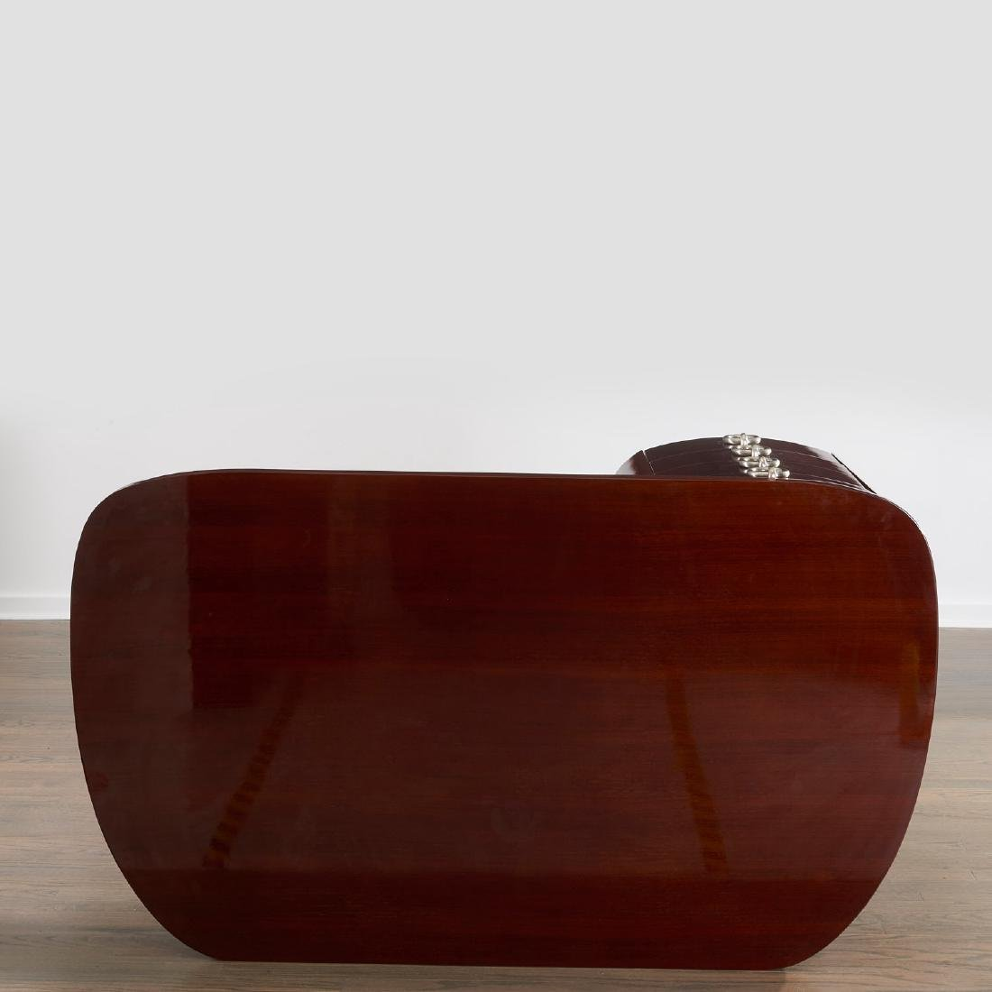 Gilbert Rohde style mahogany desk - 7