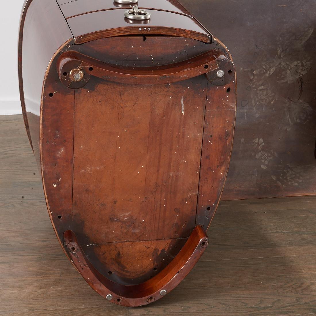 Gilbert Rohde style mahogany desk - 9
