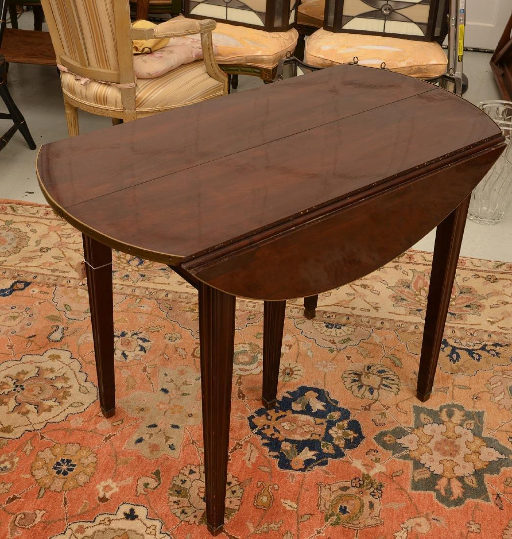 Louis XVI style mahogany dining table - 4