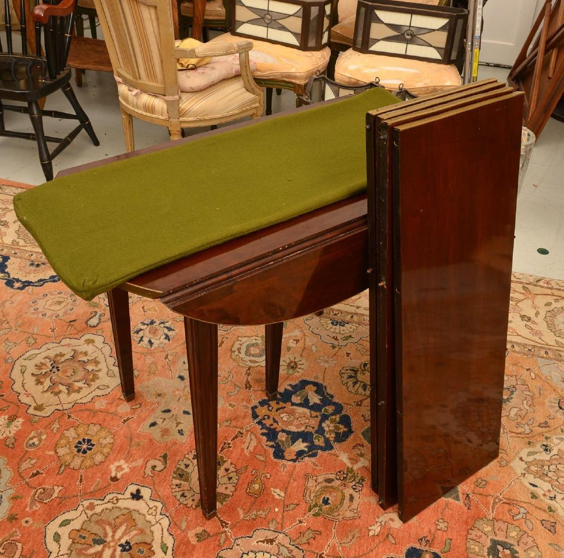 Louis XVI style mahogany dining table - 5