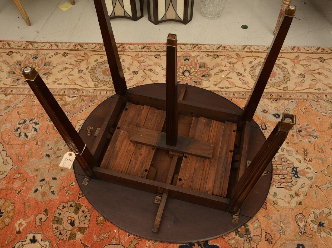 Louis XVI style mahogany dining table - 7