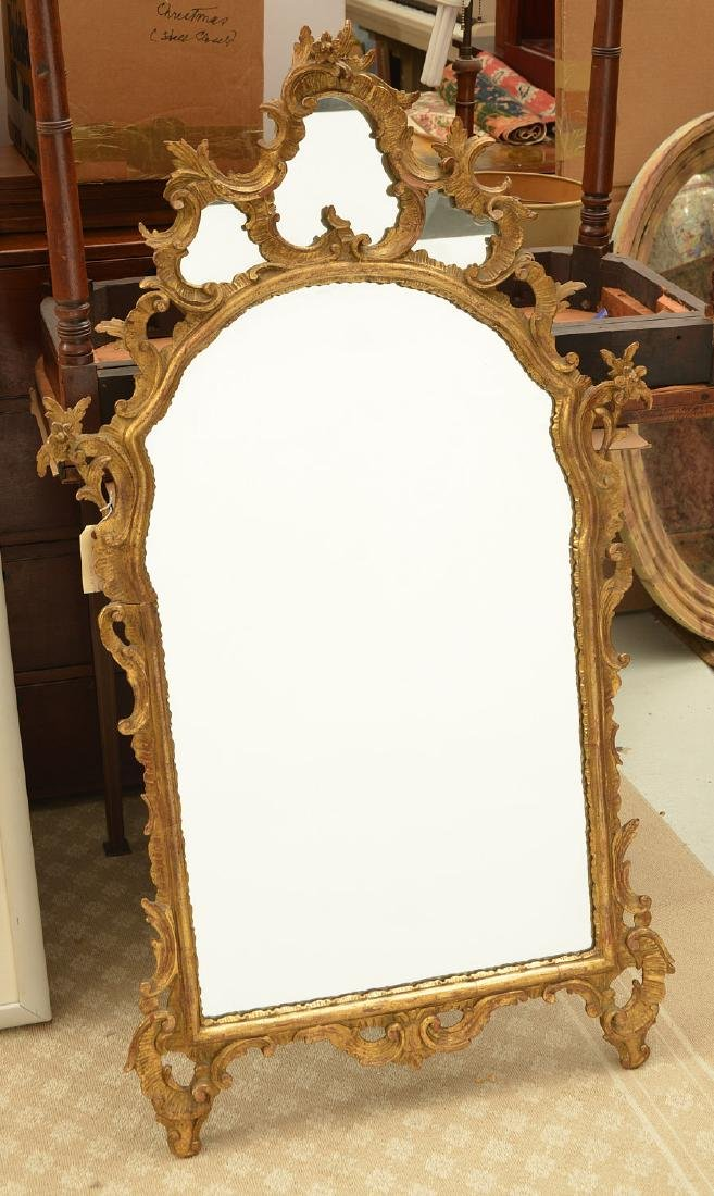 Italian Rococo style carved giltwood mirror